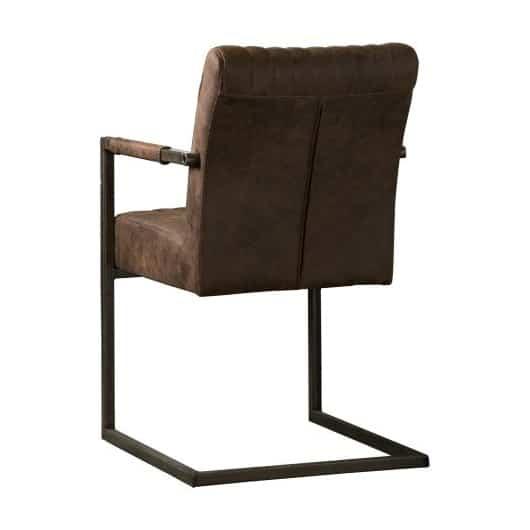 NC-0013-Ferro-armchair-fabric-dark-brown-A